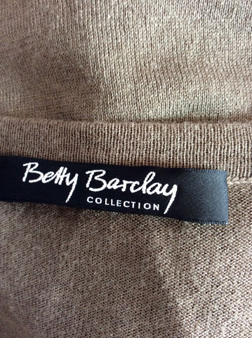 BETTY BARCLAY KHAKI GREEN V NECK CARDIGAN SIZE S - Whispers Dress Agency - Womens Knitwear - 4