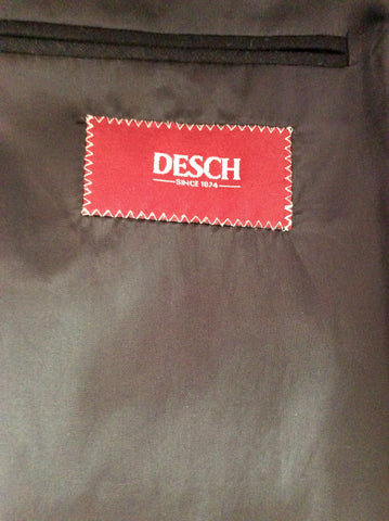 DESCH BLACK WOOL & CASHMERE SUIT JACKET SIZE 42R - Whispers Dress Agency - Mens Suits & Tailoring - 4
