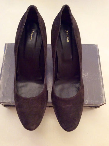 BRAND NEW JOHN LEWIS BROWN SUEDE HEELS SIZE 8/41 - Whispers Dress Agency - Womens Heels - 3