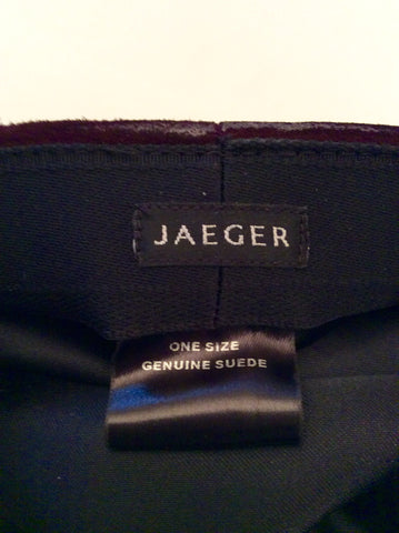 Brand New Jaeger Claret Suede Baker Boy Cap One Size - Whispers Dress Agency - Sold - 3
