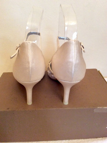 BRAND NEW MENBUR IVORY SATIN PEARL & JEWEL TRIM BRIDAL SHOES SIZE 4/37 - Whispers Dress Agency - Womens Occasion & Evening Shoes - 3