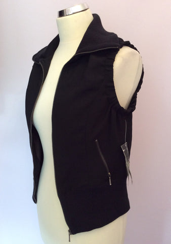 Brand New With Tags Oui Black Zip Up Gillet Size 12 - Whispers Dress Agency - Womens Gilets & Body Warmers - 2