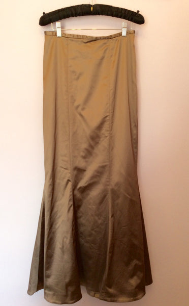 Coast Light Brown / Bronze Matt Satin Long Skirt Size 8 - Whispers Dress Agency - Womens Skirts - 1