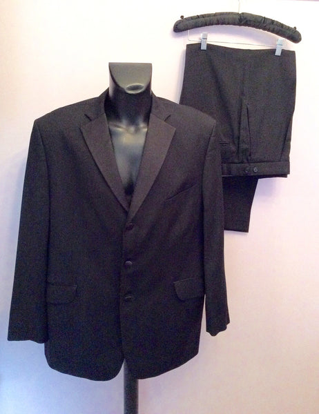 Marks & Spencer Italian Wool Black Tuxedo Suit Size 48/ 38W/ 29L - Whispers Dress Agency - Mens Suits & Tailoring - 1