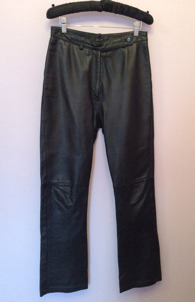 BLACK SOFT LEATHER TROUSERS SIZE 10 - Whispers Dress Agency - Womens Trousers - 1