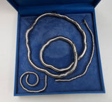 Briel Flexible Stainless Steel Necklace And Earring Set - Whispers Dress Agency - Sold - 1
