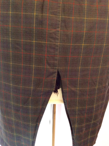 Vintage Jaeger Green Check Cotton Jacket Size S - Whispers Dress Agency - Womens Vintage - 8