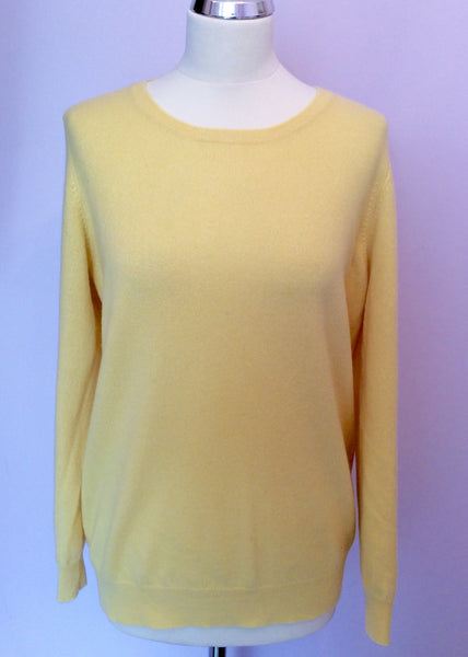 Marks & Spencer Primrose Yellow Cashmere Jumper Size 16 - Whispers Dress Agency - Sold - 1