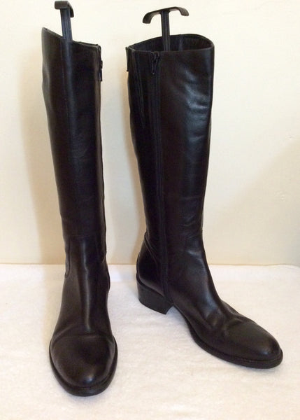 Jones The Bootmaker Black Roberta Leather Boots Size 7/40 - Whispers Dress Agency - Sold - 1