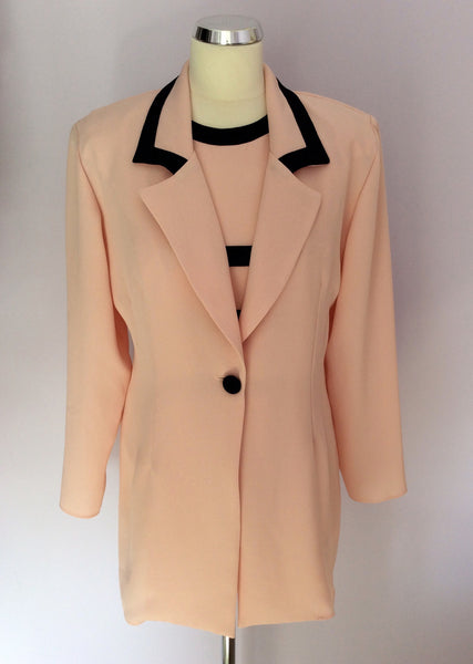 Prima Collection Pink & Black Trim Top & Jacket Outfit Size 10/12 - Whispers Dress Agency - Womens Suits & Tailoring - 1