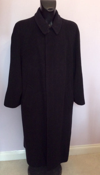 Hugo Boss Charcoal 100% Wool 'Bertone' Long Coat Size 50 UK XL - Whispers Dress Agency - Sold - 1