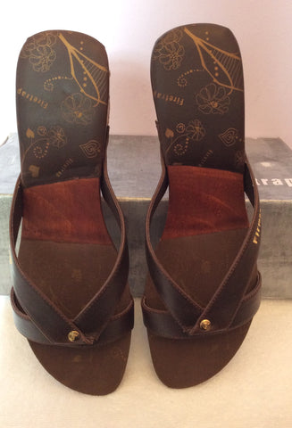 Brand New Firetrap Brown Slip On Wedge Heel Mules Size 7/40 - Whispers Dress Agency - Womens Mules & Flip Flops - 4