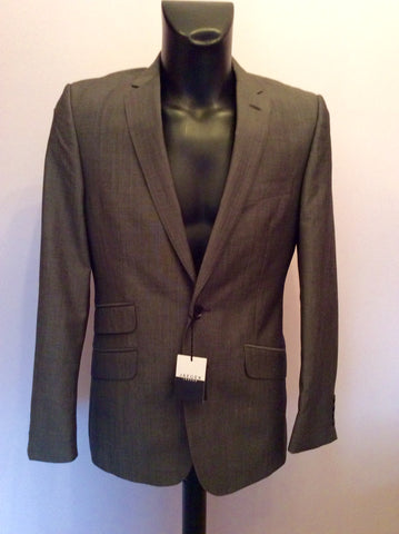 Brand New Jaeger Grey Wool & Mohair Contemporary Suit Jacket Size 38R - Whispers Dress Agency - Sold - 1