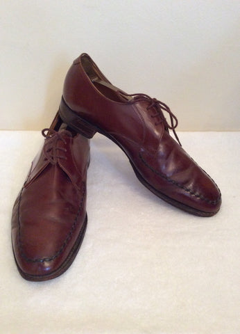 Loake Tan Brown All Leather Lace Up Shoes Size 9.5 /44 - Whispers Dress Agency - Mens Formal Shoes - 1