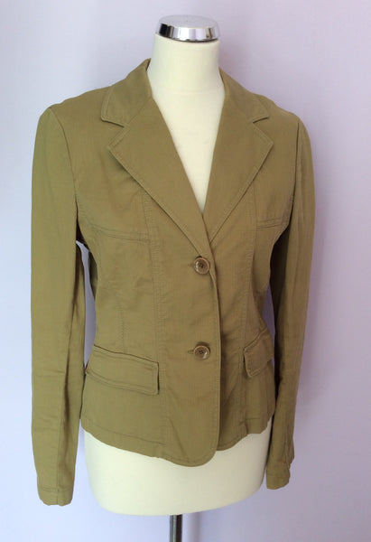 Betty Barclay Olive Green Cotton Jacket Size 12 - Whispers Dress Agency - Womens Coats & Jackets - 1