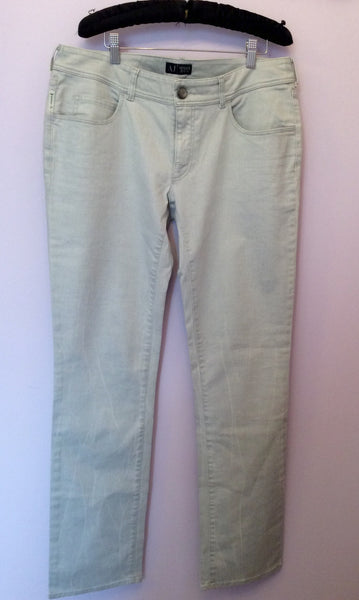 Brand New Armani Light Grey Jeans Size 33 36W/35L - Whispers Dress Agency - Womens Jeans - 1