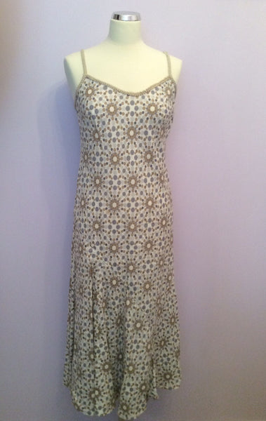 Per Una Spotted Print Linen Dress Size 10 Reg - Whispers Dress Agency - Womens Dresses - 1