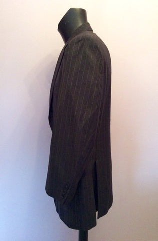 Aquascutum Dark Grey Pinstripe Wool Suit Jacket Size 44R - Whispers Dress Agency - Mens Suits & Tailoring - 2