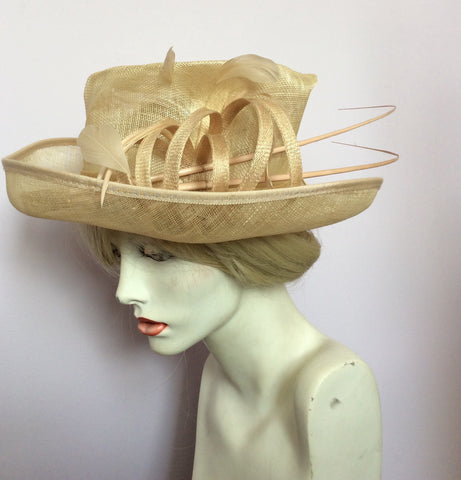Snoxell Gwyther English Milinery Natural & Cream Formal Hat - Whispers Dress Agency - Womens Formal Hats & Fascinators - 2