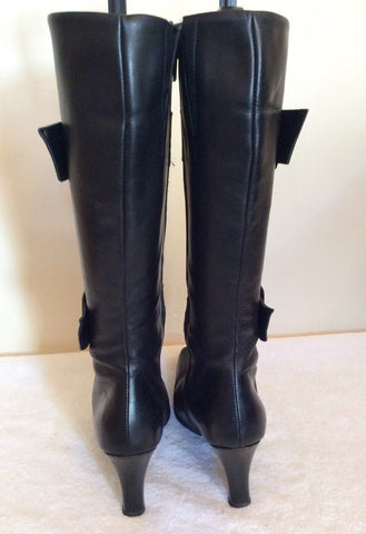 Bata Black Leather Buckle Trim Boots Size 5/38 - Whispers Dress Agency - Womens Boots - 4