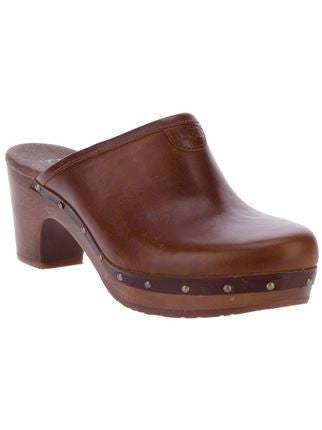 NEW IN BOX UGG LIGHT CHOCOLATE ABBIE CLOGS SIZE 3.5/36 - Whispers Dress Agency - Womens Mules & Flip Flops - 1
