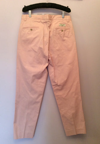 Brand New Ralph Lauren Polo Pink Cotton Chino Trousers Size 14 - Whispers Dress Agency - Sold - 2