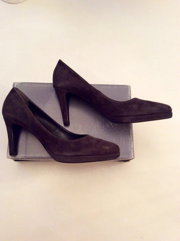 BRAND NEW JOHN LEWIS BROWN SUEDE HEELS SIZE 8/41 - Whispers Dress Agency - Womens Heels - 4