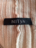 Nitya Beige Zip Up Poncho / Cardigan Size Approx L/XL - Whispers Dress Agency - Sold - 5