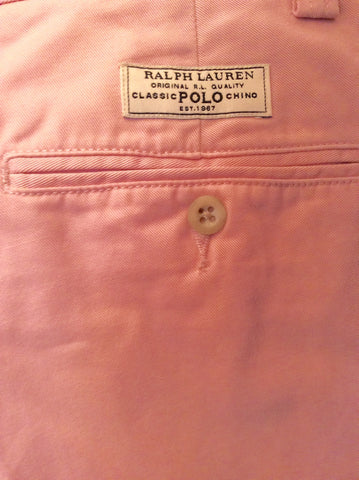 Brand New Ralph Lauren Polo Pink Cotton Chino Trousers Size 14 - Whispers Dress Agency - Sold - 3