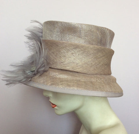 Alicia Boom Pale Lilac / Mauve Feather Trim Formal Hat - Whispers Dress Agency - Womens Formal Hats & Fascinators - 3