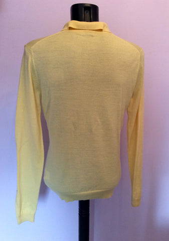 Crombie Yellow Wool Collared Long Sleeve Jumper Size L - Whispers Dress Agency - Mens Knitwear - 2
