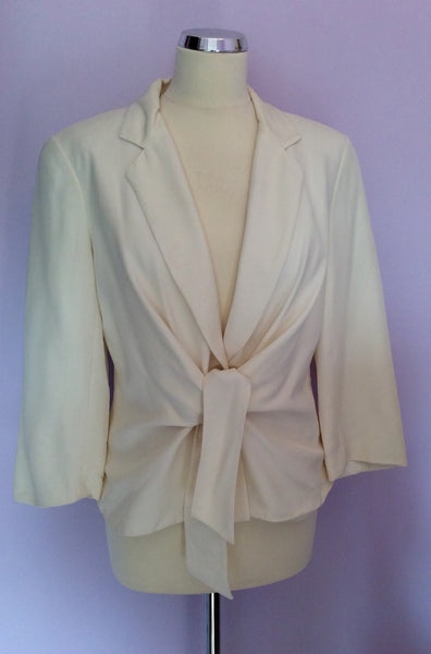 Renatto Nucci Ivory Silk Jacket Size 44 UK 12 - Whispers Dress Agency - Womens Coats & Jackets - 1