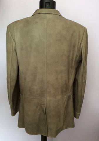 BRAND NEW OLIVER SWEENEY FOUNTAIN GREY (DARK BEIGE) SOFT LEATHER JACKET SIZE XL - Whispers Dress Agency - Mens Coats & Jackets - 3