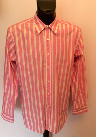 Tommy Hilfiger Pink & White Stripe Long Sleeve Shirt Size L - Whispers Dress Agency - Mens Casual Shirts & Tops - 1