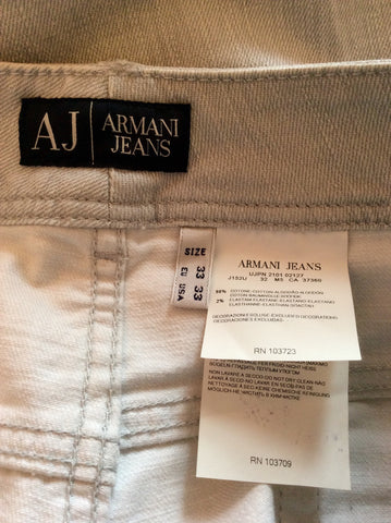 Brand New Armani Light Grey Jeans Size 33 36W/35L - Whispers Dress Agency - Womens Jeans - 4