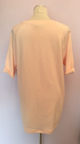 BRAND NEW LONG TALL SALLY PALE PEACH NYC SWEATSHIRT TOP SIZE L - Whispers Dress Agency - Womens Activewear - 2