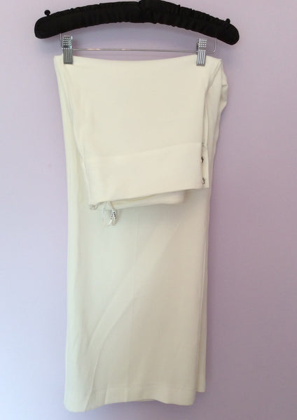 Smart Planet Ivory Trousers Size 14 Fit 16 - Whispers Dress Agency - Sold