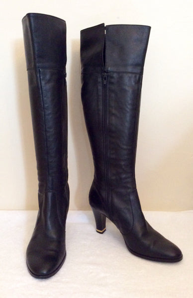 Roberto Vianni Black Soft Leather Boots Size 4/37 - Whispers Dress Agency - Womens Boots - 1