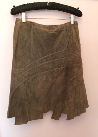 Betty Barclay Brown Suede Skirt Size 8 - Whispers Dress Agency - Womens Skirts - 1