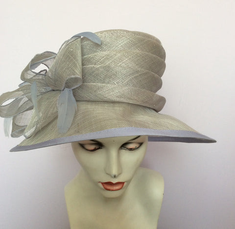 Hat Company Light Blue Formal Hat - Whispers Dress Agency - Womens Formal Hats & Fascinators - 2