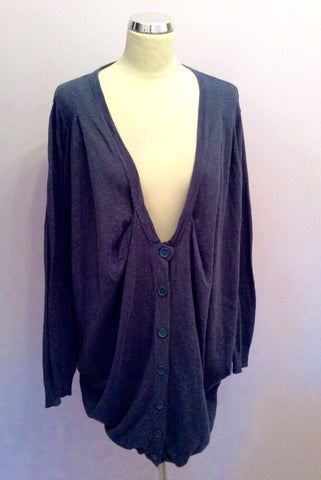 Vero Moda Dizzy Blue Long V Neck Cardigan Size L - Whispers Dress Agency - Womens Knitwear - 1