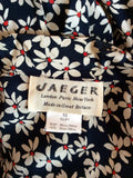 Vintage Jaeger Blue, Red & Cream Floral Print Tea Dress Size 10 - Whispers Dress Agency - Womens Vintage - 5