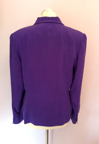 Brand New August Silk Sport Purple Silk Skirt Suit Size L - Whispers Dress Agency - Womens Suits & Tailoring - 3