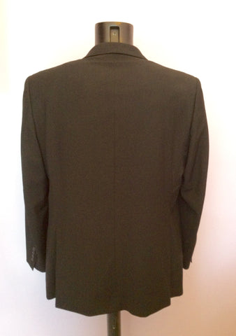 Douglas Black Pinstripe Pure Wool Jacket Size 42R - Whispers Dress Agency - Mens Suits & Tailoring - 2