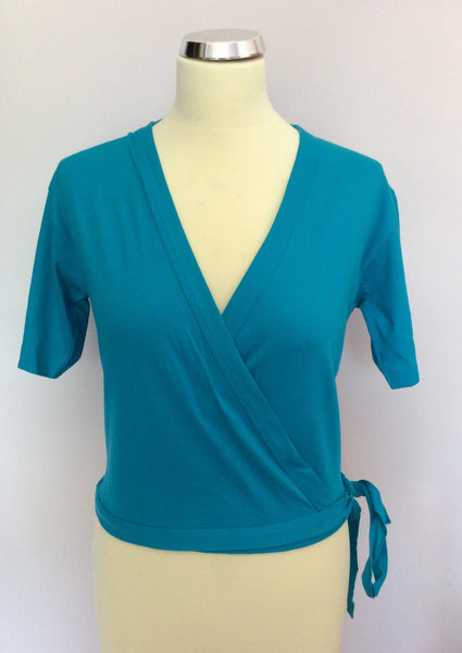 Vintage Jaeger Turquoise Wrap Around Top Size M - Whispers Dress Agency - Sold - 1