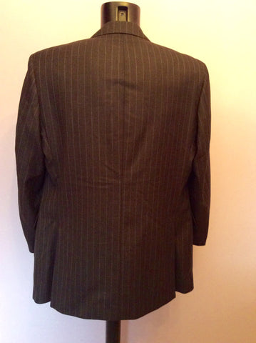 Aquascutum Dark Grey Pinstripe Wool Suit Jacket Size 44R - Whispers Dress Agency - Mens Suits & Tailoring - 3