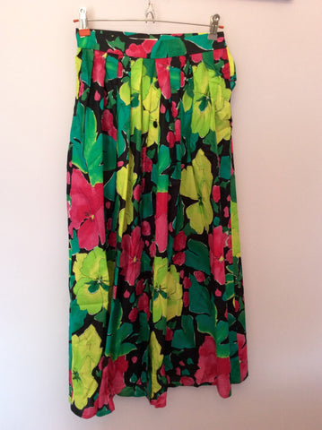 Vintage Jaeger Multi Coloured Cotton Print Top & Skirt Size 8 - Whispers Dress Agency - Womens Vintage - 4