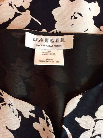 Vintage Jaeger Black & Pink Floral Print Top & Skirt Size 18 - Whispers Dress Agency - Womens Vintage - 4