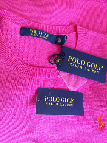 BNWT Ralph Lauren Polo Golf Belmont Pink Wool Jumper Size XL - Whispers Dress Agency - Sold - 3