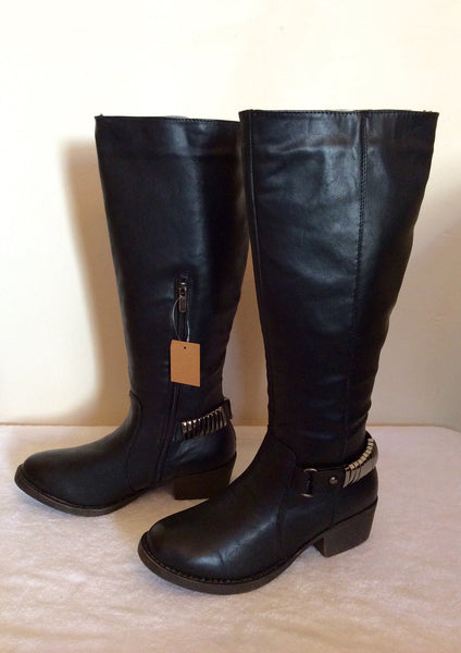 New In Box Marietta's Black & Silver Ankle Trim Boots Size 4/37 - Whispers Dress Agency - Womens Boots - 1